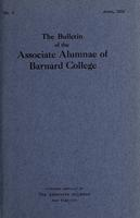 The Bulletin of the Associate Alumnae of Barnard College, April 1913