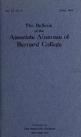 The Bulletin of the Associate Alumnae of Barnard College, April 1914