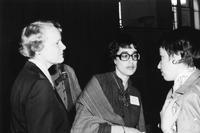 Jacquelyn Mattfeld with Hester Eisenstein with unidentified woman, C1985