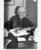Jane Gould at Desk, C1990