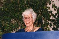 Jane Gould at Podium, C1990