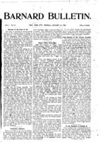 Barnard Bulletin, January 14, 1901, page 1