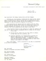 Letter from Martha Peterson to Gould, Graham, Hertz, and Stimpson, June 14, 1971, page 1