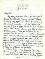 Letter from Annette Baxter to Catharine Stimpson, June 25, 1971, page 1