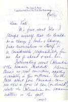 Letter from Annette Baxter to Catharine Stimpson, August 24, 1971