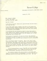 Letter from Elly Elliott to Miriam Holden, January 14, 1971, page 1