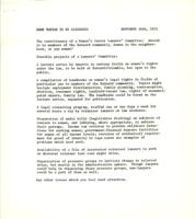 Barnard Lawyers' Committee, some topics to be discussed, 1971, page 2