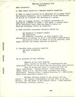 Barnard Lawyers' Committee, meeting at Columbia Club, November 16, 1971, page 1