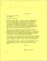 Letter from Catharine Stimpson to Stanley Schachter, December 3, 1971, page 1