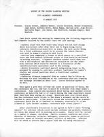 Report on the second planning meeting, 1973