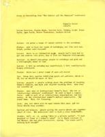 Notes on Scholar and Feminist Conference, 1974
