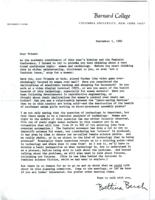 Invitation to the Scholar and Feminist planning committee, 1982, page 1