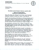 Press release for 1979 The Scholar and The Feminist conference