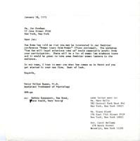 Letter to Jan Goodman, 1973, page 1