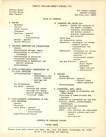 Women's Work and Women's Studies 1971, table of contents, 1972, page 1