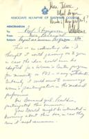 Memo from Nora Percival to Catharine Stimpson, regarding a report on a summer program, August 13, 1971, page 1
