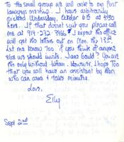 Letter from Elly Elliot to Catharine Stimpson, September 2, 1971, page 2