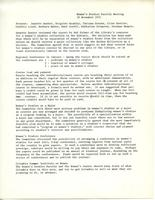 Women's Studies faculty meeting minutes, November 29, 1971, page 1