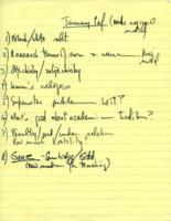 Notes on January Conference, 1971