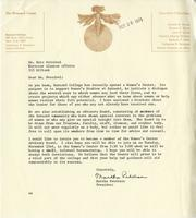 Letter from Martha Peterson to Nora Percival, October 1971
