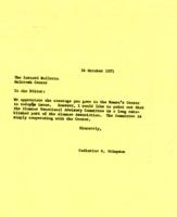 Letter from Catharine Stimpson to the Barnard Bulletin, October 14, 1971, page 1