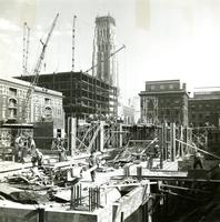 Lehman Hall construction, 1958