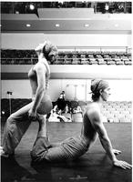 Sara Pearson and Jerry Pearson in Dance Uptown performance, 1974