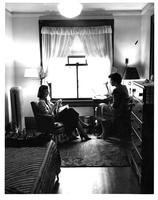 Two students in Brooks Hall dormitory, circa 1950