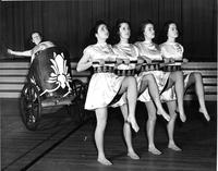 Freshman group dress rehearsal, Greek Games, 1939