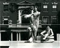 Dancers in front of Milbank Hall, circa 1960
