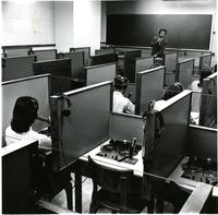 Students and Professor in Language Lab, circa 1959-1966