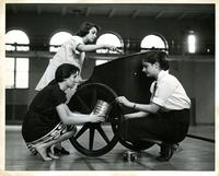 Greek Games chariot preparation, 1954