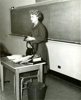Professor Ursula Niebuhr, Department of Religion, circa 1963