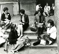 Barnard students at orientation, circa early 1960s