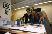 Students in Barnard Archives, 2001