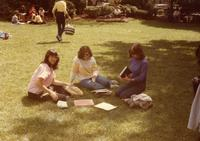 Students Sitting on Lehman Lawn, 1976