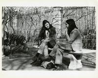 Two Students on a Lehman Lawn Bench, Spring 1979