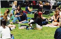 Students Sitting on Lehman Lawn, 2003