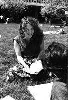 Candid of Student on Lehman Lawn, 1981