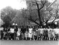 Group Shot of Students on Lehman Lawn, circa 1980s