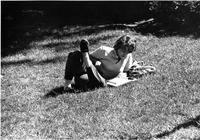 Student Life-Studying Outside, circa 1980s