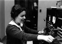 Student working at BHR Switchboard, circa 1960s