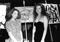 Students at art show, circa 1980s