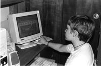 Student looks at website, 1998