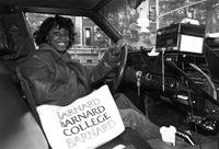 Informal portrait of student in car, 1988