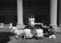 Discussion section in the quad, 1988