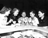 Foreign students at Snack Bar, circa 1950