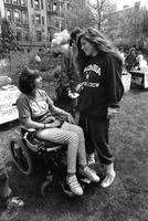 Students Chat at Lehman Lawn Fair, circa 1980s