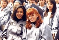 Candid photo at graduation, circa 1990s