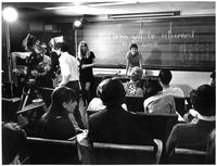 Catherine Stimpson teaching class, circa 1970s